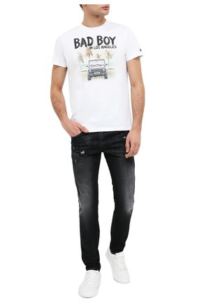 Мужская хлопковая футболка MC2 SAINT BARTH белого цвета, арт. STBM TSHIRT MAN/TSHM001   Фото 2