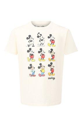 Мужская хлопковая футболка MC2 SAINT BARTH бежевого цвета, арт. STBM TSHIRT MAN/TSHM001   Фото 1