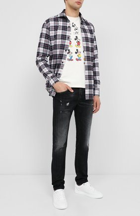 Мужская хлопковая футболка MC2 SAINT BARTH бежевого цвета, арт. STBM TSHIRT MAN/TSHM001   Фото 2