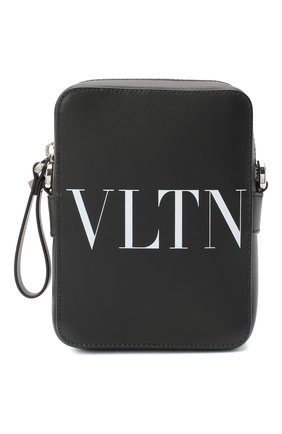 Мужская кожаная сумка VALENTINO черного цвета, арт. UY2B0943/WJW   Фото 1
