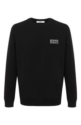 Мужской хлопковый свитшот VALENTINO черного цвета, арт. UV3MF15L6LB | Фото 1