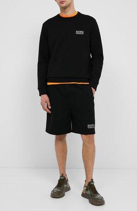 Мужской хлопковый свитшот VALENTINO черного цвета, арт. UV3MF15L6LB | Фото 2