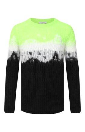 Мужской шерстяной свитер VALENTINO зеленого цвета, арт. UV3KC10Q6N4 | Фото 1