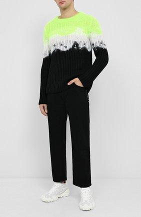 Мужской шерстяной свитер VALENTINO зеленого цвета, арт. UV3KC10Q6N4 | Фото 2