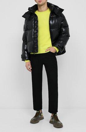 Мужской кашемировый свитер VALENTINO желтого цвета, арт. UV3KC03K5FB | Фото 2