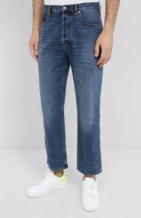 Мужские джинсы VALENTINO синего цвета, арт. UV3DE05Y6H6 | Фото 3