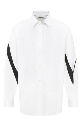 Мужская хлопковая рубашка VALENTINO белого цвета, арт. UV3ABA956EW | Фото 1
