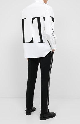 Мужская хлопковая рубашка VALENTINO белого цвета, арт. UV3ABA956EW | Фото 2