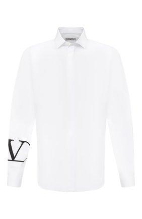 Мужская хлопковая рубашка VALENTINO белого цвета, арт. UV3AB7655AL   Фото 1