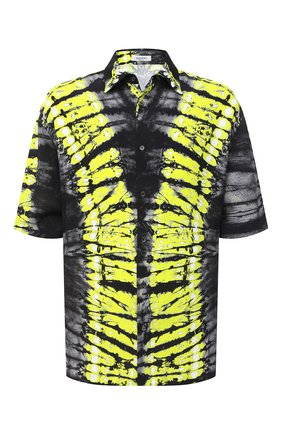Мужская рубашка из вискозы VALENTINO желтого цвета, арт. UV3AAB606ER | Фото 1