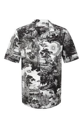 Мужская хлопковая рубашка VALENTINO черного цвета, арт. UV3AA7696G2 | Фото 1
