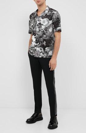 Мужская хлопковая рубашка VALENTINO черного цвета, арт. UV3AA7696G2 | Фото 2