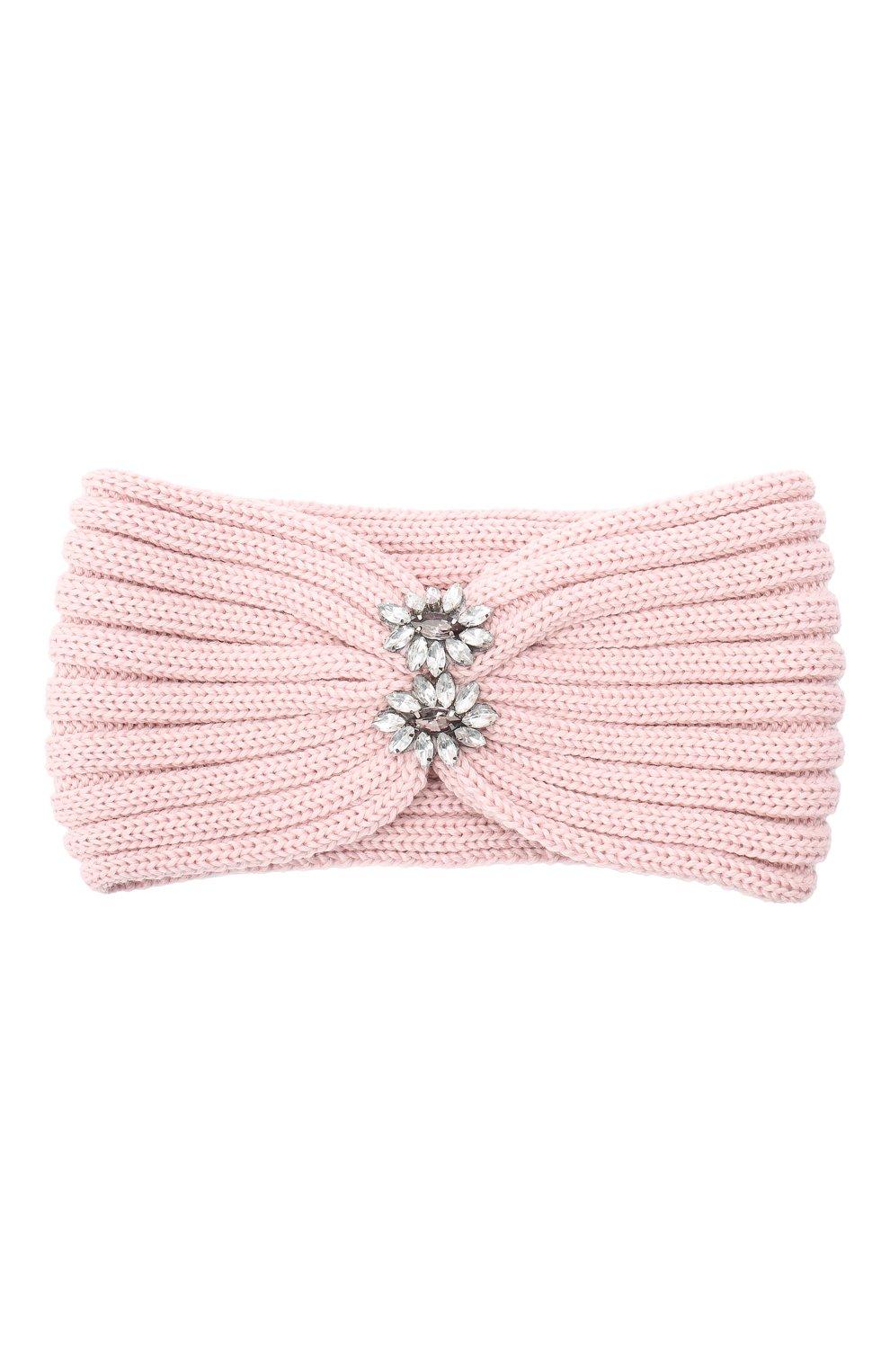 Детская шерстяная повязка CATYA розового цвета, арт. 024822   Фото 1