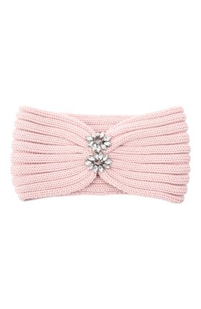 Детская шерстяная повязка CATYA розового цвета, арт. 024822 | Фото 1
