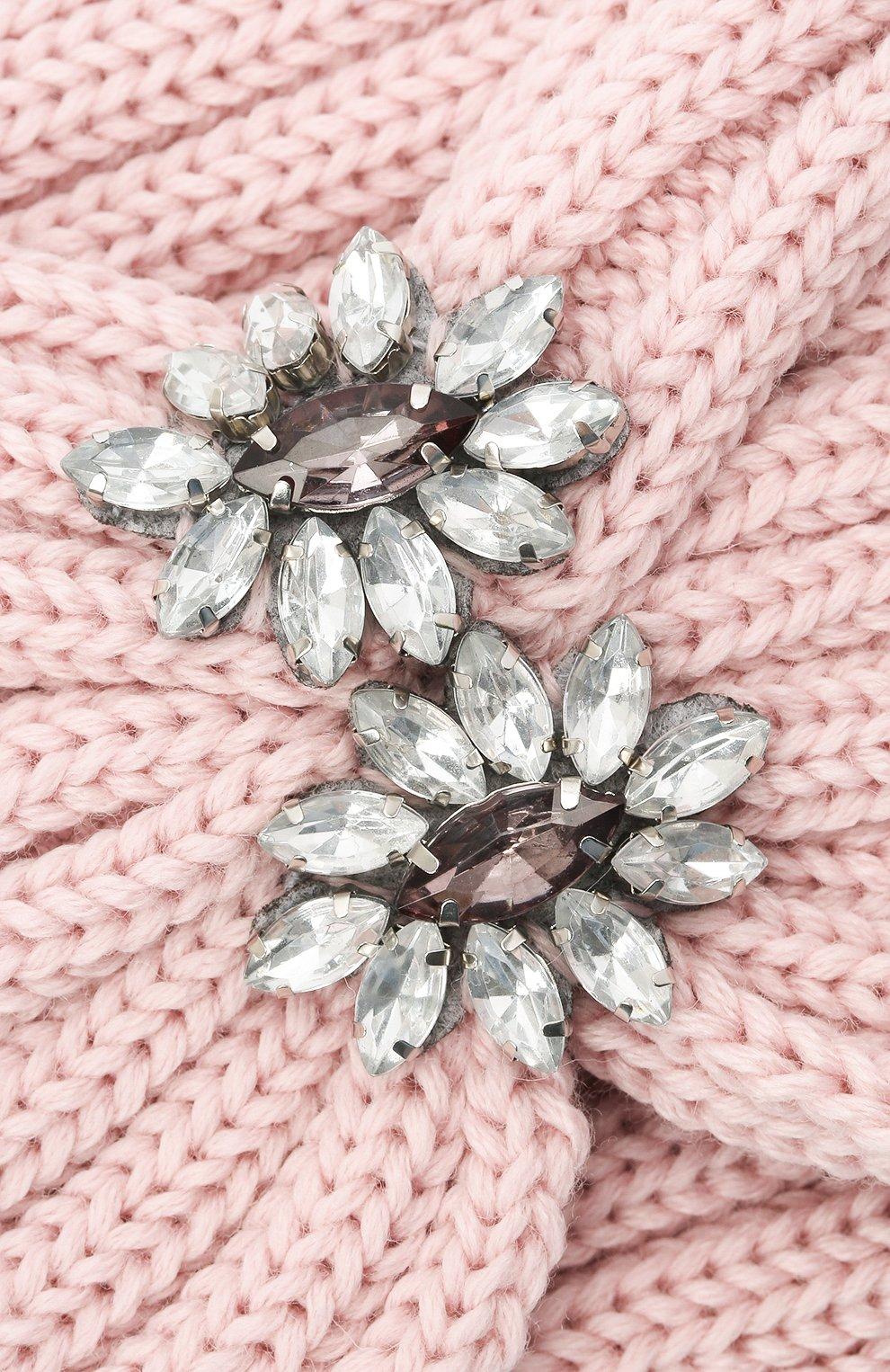 Детская шерстяная повязка CATYA розового цвета, арт. 024822   Фото 3