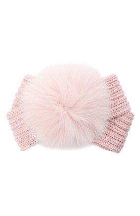 Детская шерстяная повязка CATYA розового цвета, арт. 024820 | Фото 1