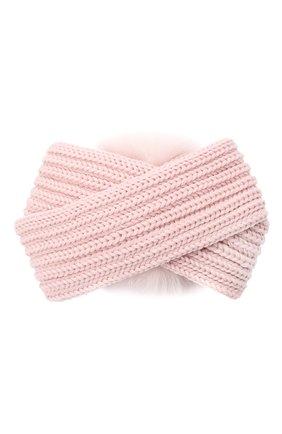 Детская шерстяная повязка CATYA розового цвета, арт. 024820 | Фото 2