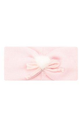 Детская шерстяная повязка CATYA розового цвета, арт. 024816/G | Фото 1