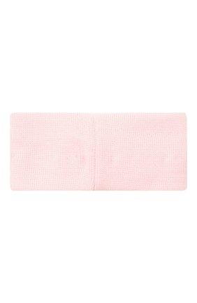 Детская шерстяная повязка CATYA розового цвета, арт. 024816/G | Фото 2