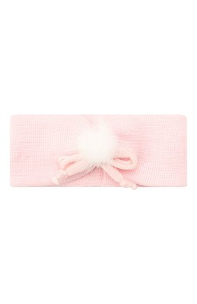 Детская шерстяная повязка CATYA розового цвета, арт. 024816 | Фото 1