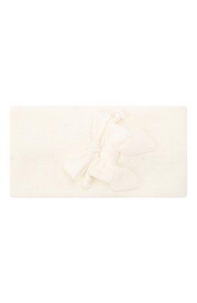 Детская шерстяная повязка CATYA белого цвета, арт. 024815/G | Фото 1