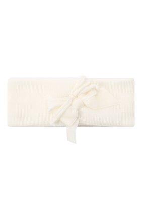 Детская шерстяная повязка CATYA белого цвета, арт. 024815 | Фото 1