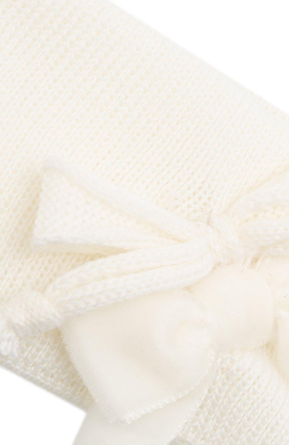 Детская шерстяная повязка CATYA белого цвета, арт. 024815 | Фото 3