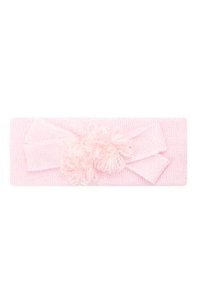 Детская шерстяная повязка CATYA розового цвета, арт. 024814 | Фото 1