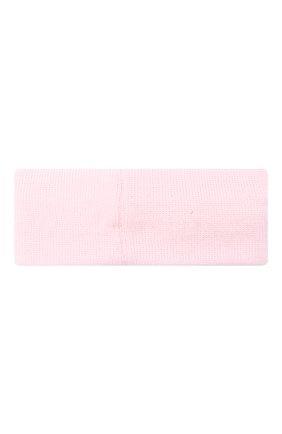 Детская шерстяная повязка CATYA розового цвета, арт. 024814 | Фото 2