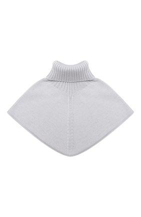 Детский шерстяной шарф-воротник CATYA серого цвета, арт. 024792/2 | Фото 2