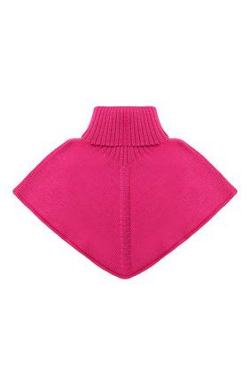 Детский шерстяной шарф-воротник CATYA фуксия цвета, арт. 024792/2 | Фото 1