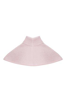 Детский шерстяной шарф-воротник CATYA розового цвета, арт. 024792/2 | Фото 2