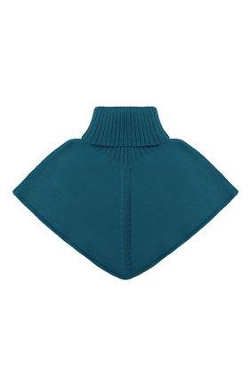 Детский шерстяной шарф-воротник CATYA зеленого цвета, арт. 024792/2 | Фото 1
