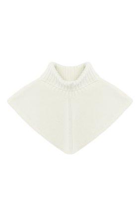Детский шерстяной шарф-воротник CATYA белого цвета, арт. 024792/2 | Фото 1