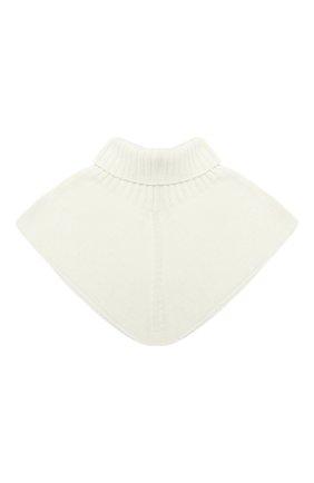 Детский шерстяной шарф-воротник CATYA белого цвета, арт. 024792/2 | Фото 2
