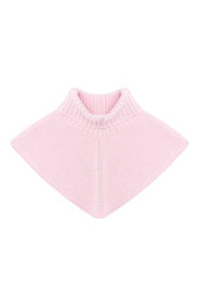 Детский шерстяной шарф-воротник CATYA розового цвета, арт. 024792/2 | Фото 1