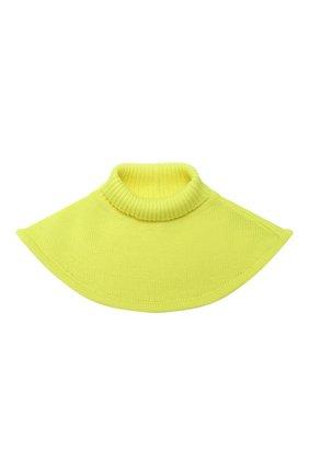 Детский шерстяной шарф-воротник CATYA желтого цвета, арт. 024791/1 | Фото 1