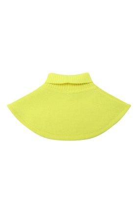 Детский шерстяной шарф-воротник CATYA желтого цвета, арт. 024791/1 | Фото 2