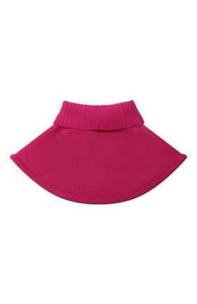 Детский шерстяной шарф-воротник CATYA фуксия цвета, арт. 024791/1 | Фото 2