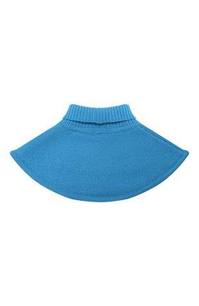 Детский шерстяной шарф-воротник CATYA голубого цвета, арт. 024791/1   Фото 2