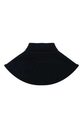 Детский шерстяной шарф-воротник CATYA темно-синего цвета, арт. 024791/1 | Фото 2