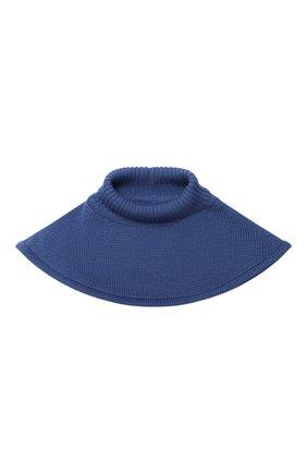 Детский шерстяной шарф-воротник CATYA синего цвета, арт. 024791/1   Фото 1
