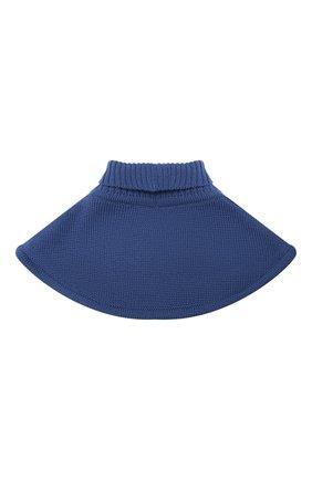 Детский шерстяной шарф-воротник CATYA синего цвета, арт. 024791/1   Фото 2