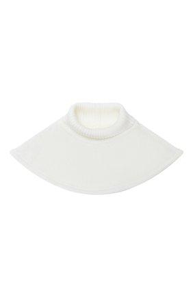 Детский шерстяной шарф-воротник CATYA белого цвета, арт. 024791/1 | Фото 1