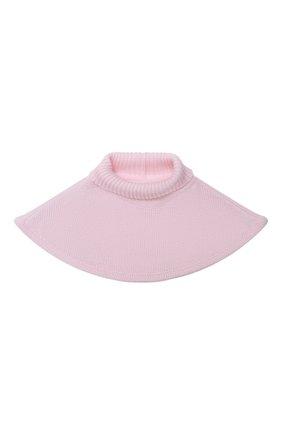 Детский шерстяной шарф-воротник CATYA розового цвета, арт. 024791/1 | Фото 1