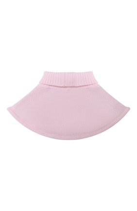 Детский шерстяной шарф-воротник CATYA розового цвета, арт. 024791/1 | Фото 2
