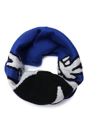 Детский шерстяной шарф-снуд CATYA голубого цвета, арт. 024788   Фото 1