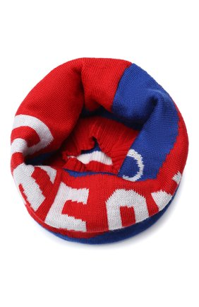 Детский шерстяной шарф-снуд CATYA синего цвета, арт. 024781 | Фото 1