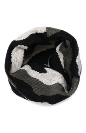 Детский шерстяной шарф-снуд CATYA разноцветного цвета, арт. 024780 | Фото 1