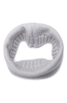 Детский шерстяной шарф-снуд CATYA серого цвета, арт. 024755 | Фото 1